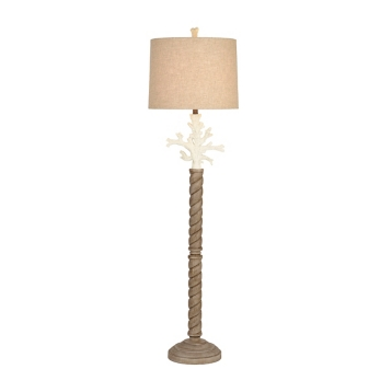 White coral floor lamp kirklands mozeypictures Images