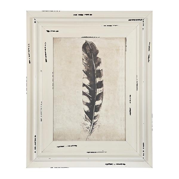Black Right Feather Framed Art Print | Kirklands