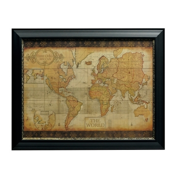Antique old world map framed art print kirklands gumiabroncs Choice Image