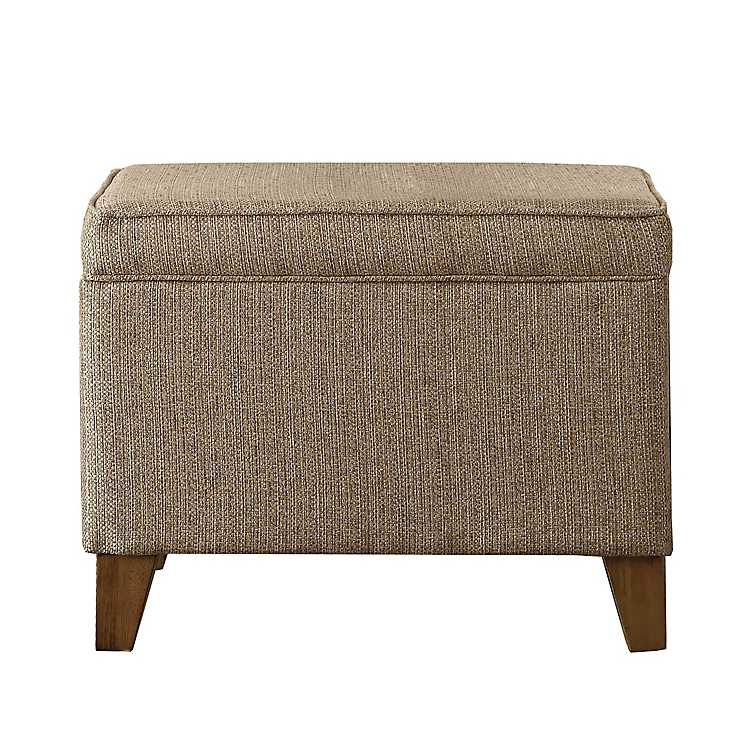 Sensational Rafia Tan Storage Ottoman Machost Co Dining Chair Design Ideas Machostcouk