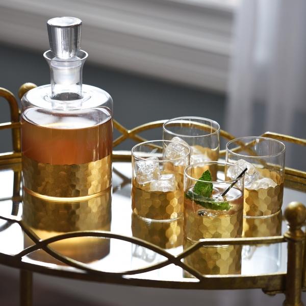 Daphne Gold 5-piece Whiskey Set