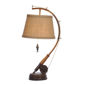 Fishing rod table lamp kirklands mozeypictures Gallery