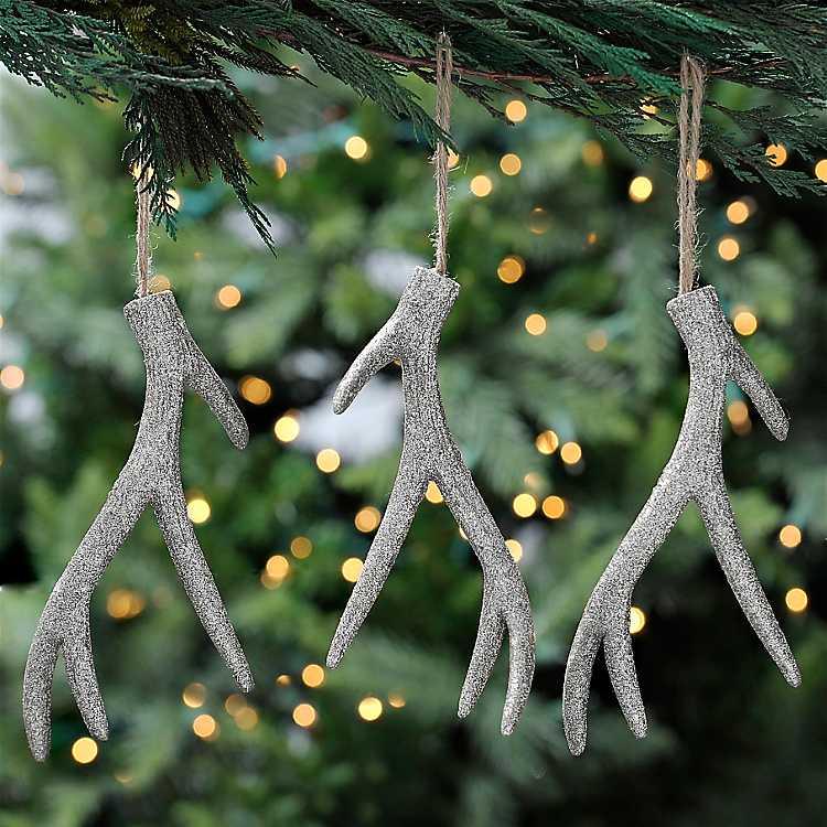 Product Details. Silver Deer Antler Ornaments ...