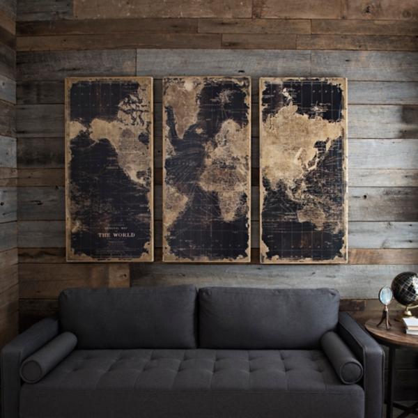 World map wooden plaque set of 3 kirklands gumiabroncs Image collections