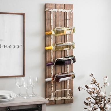 Wonderful Rustic Wooden Wine Rack | Kirklands PP45