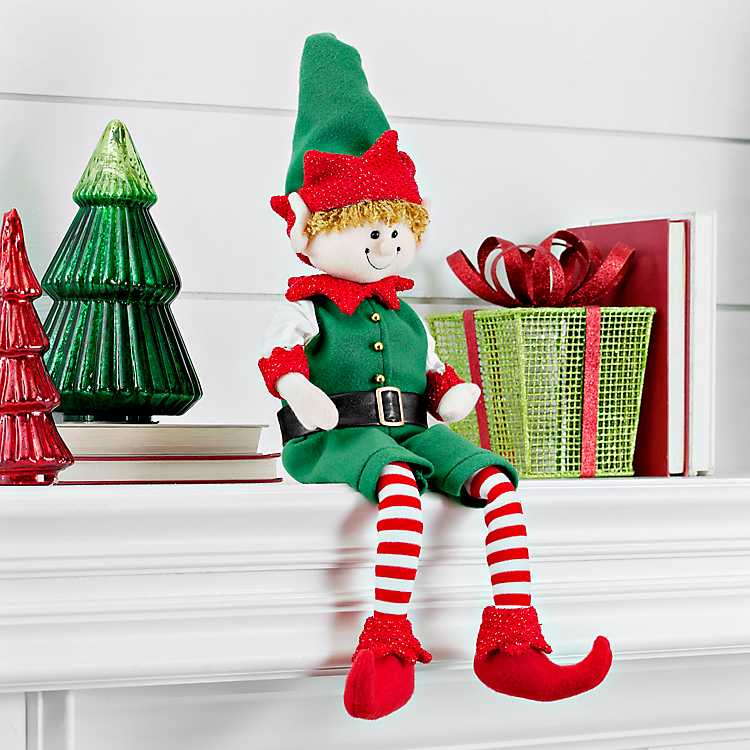 Christmas Elf On The Shelf Images.Striped Christmas Elf Shelf Sitter