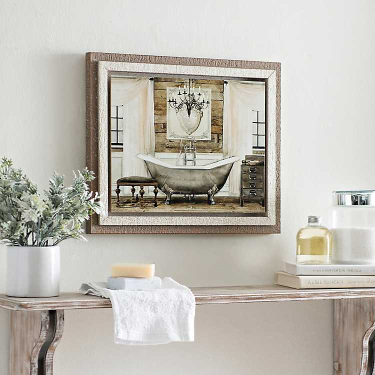 BATHROOM FRAMED WALL ART PRINT PICTURE!