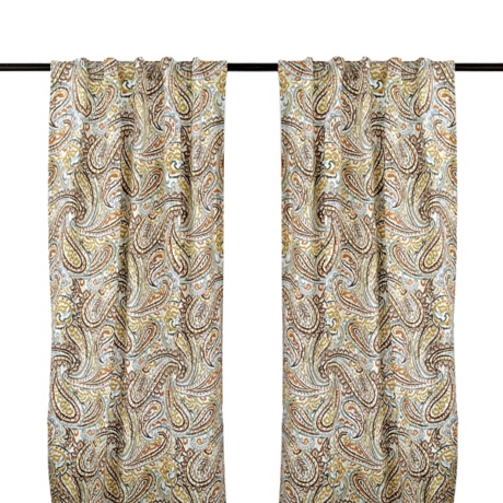 Vienna Paisley Curtain Panel Set 84 In