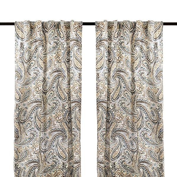 Ocean Vienna Paisley Curtain Panel Set 84 In