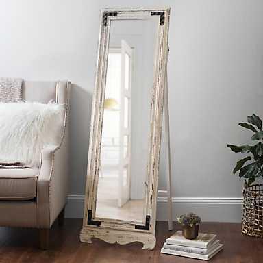 Rustic Cheval Full Length Floor Mirror