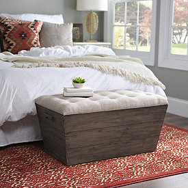 Pleasing Ottomans Benches Storage Benches Kirklands Bralicious Painted Fabric Chair Ideas Braliciousco