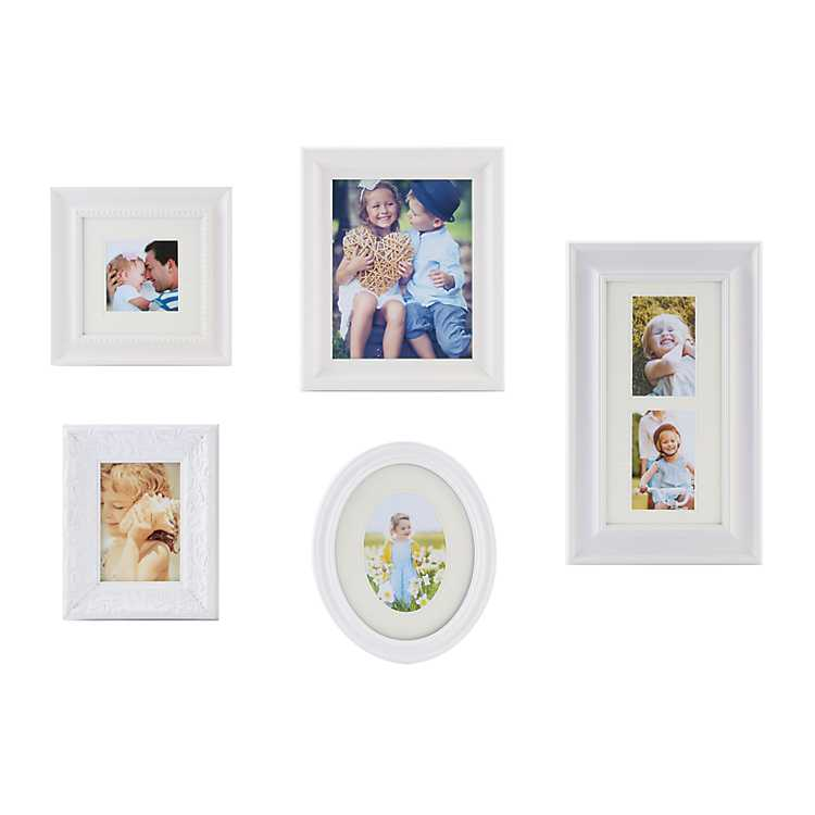 White Classic 5-pc. Gallery Picture Frame Set | Kirklands