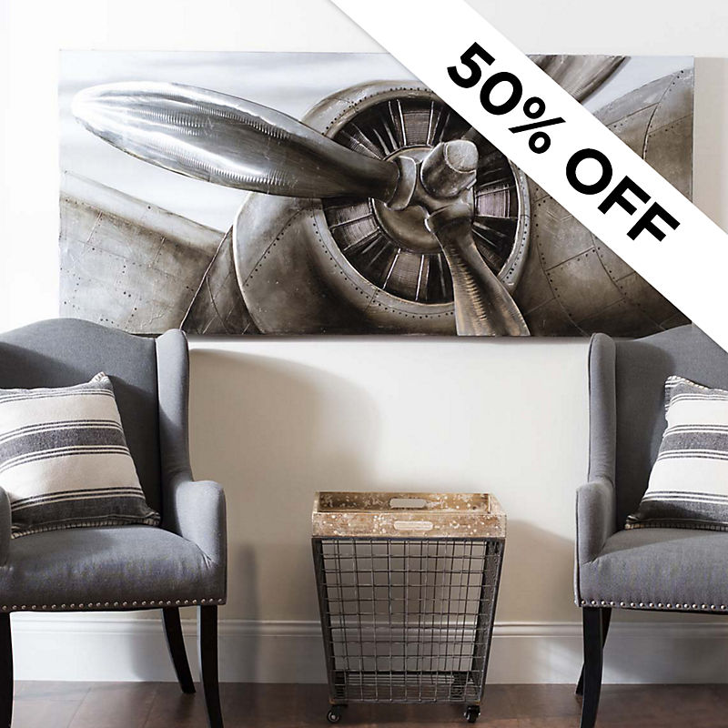 50% Off - Propeller Canvas Art - Was $249.99 - Now $124.99
