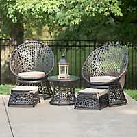 Chelsea Outdoor Swivel Set, Set of 5