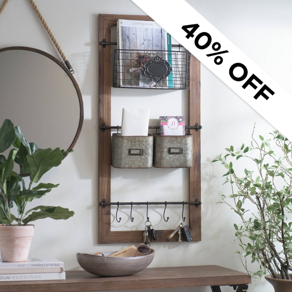 40% Off - Wall Organizer - Was $54.99 - Now $32.99