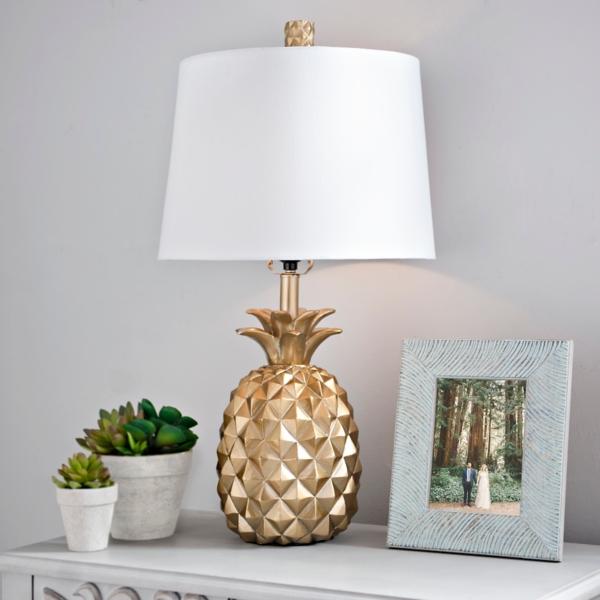Gold pineapple table lamp kirklands aloadofball Images
