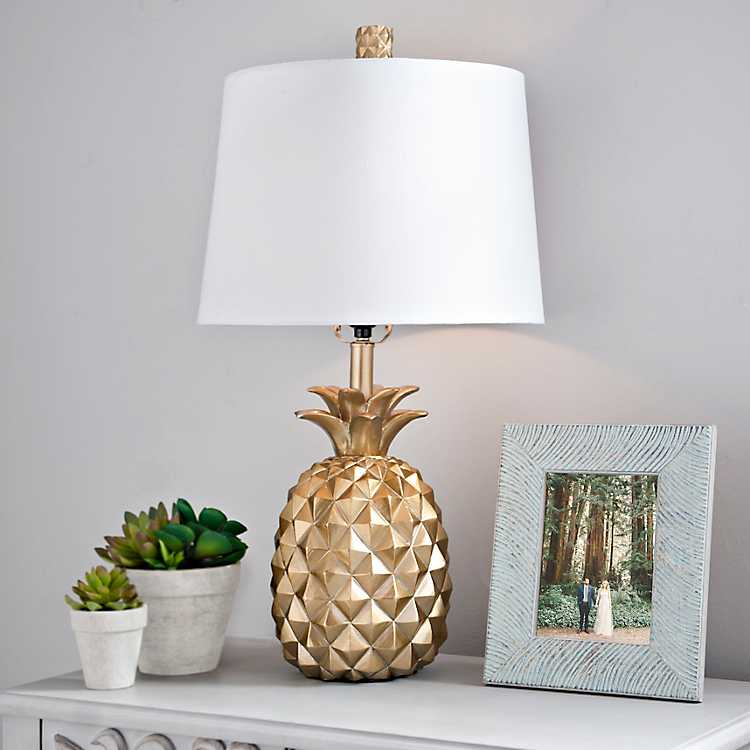 Product Details. Gold Pineapple Table Lamp