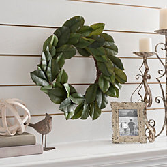 Magnolia Leaf Wreath 24 In