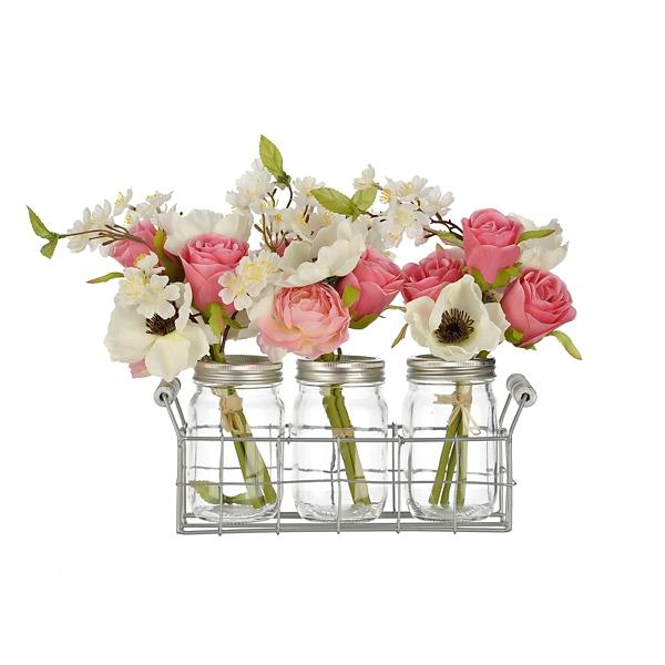 Spring mix arrangement in mason jar planter kirklands mightylinksfo