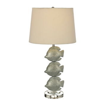 Blue lux fish trio table lamp kirklands aloadofball Image collections