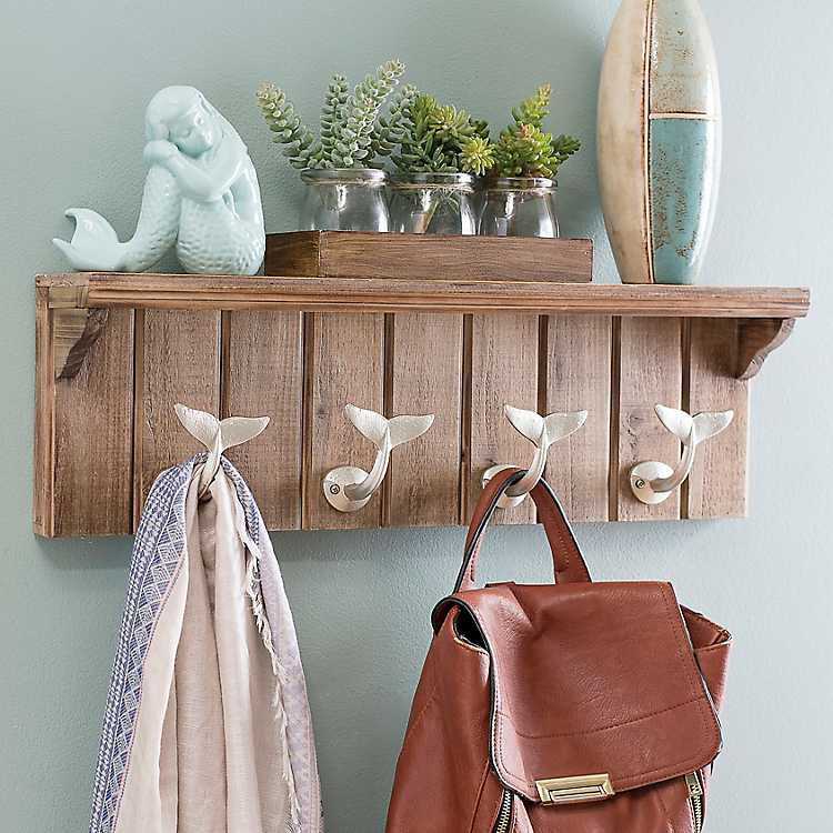 hooks for purses on wall.htm metal whale tail hook plaque kirklands  metal whale tail hook plaque kirklands