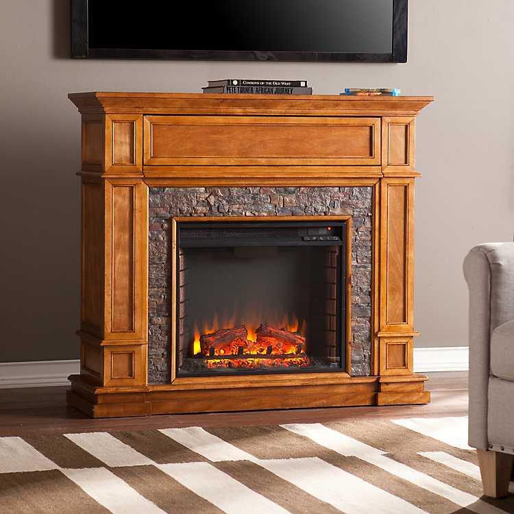 Stellam Faux Stone Electric Fireplace Kirklands
