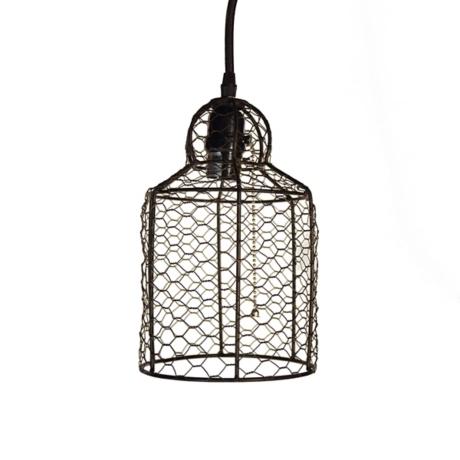 Chicken Wire Pendant Light