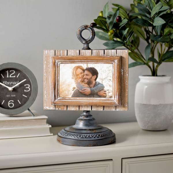 Rustic Pedestal Picture Frame
