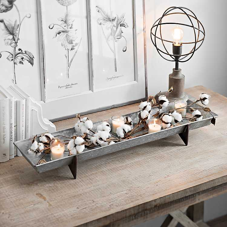 decorative bowls home decor.htm long galvanized metal decorative tray kirklands  long galvanized metal decorative tray