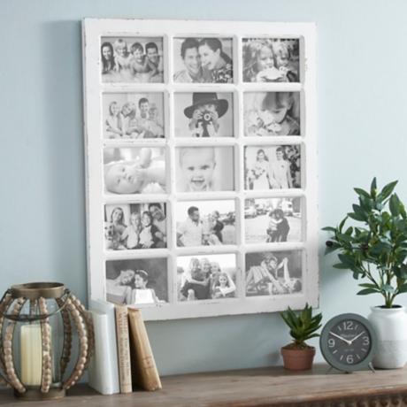 White Windowpane Collage Frame | Kirklands