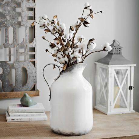 Whitewashed Pitcher Vase Kirklands