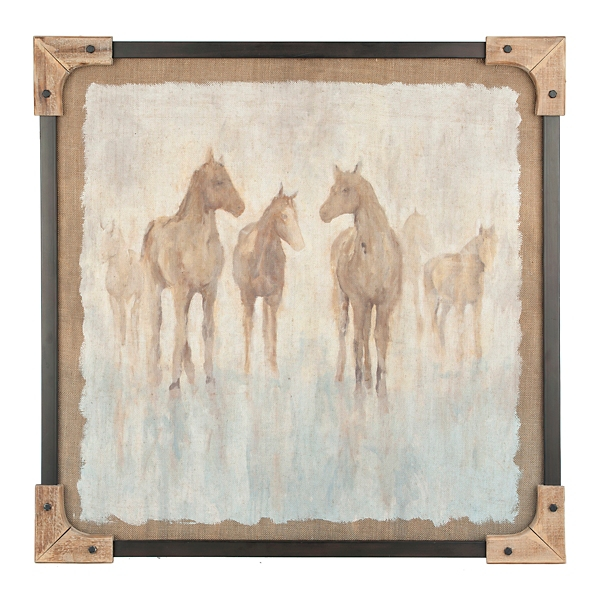 Wood Corner Horse Framed Art Print | Kirklands