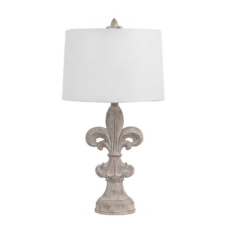 Driftwood Fleur De Lis Table Lamp