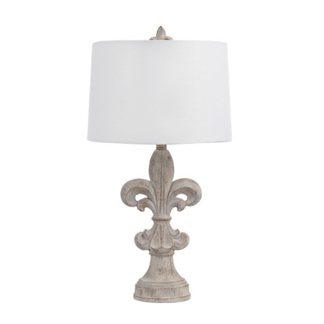 Driftwood fleur de lis table lamp kirklands aloadofball Choice Image