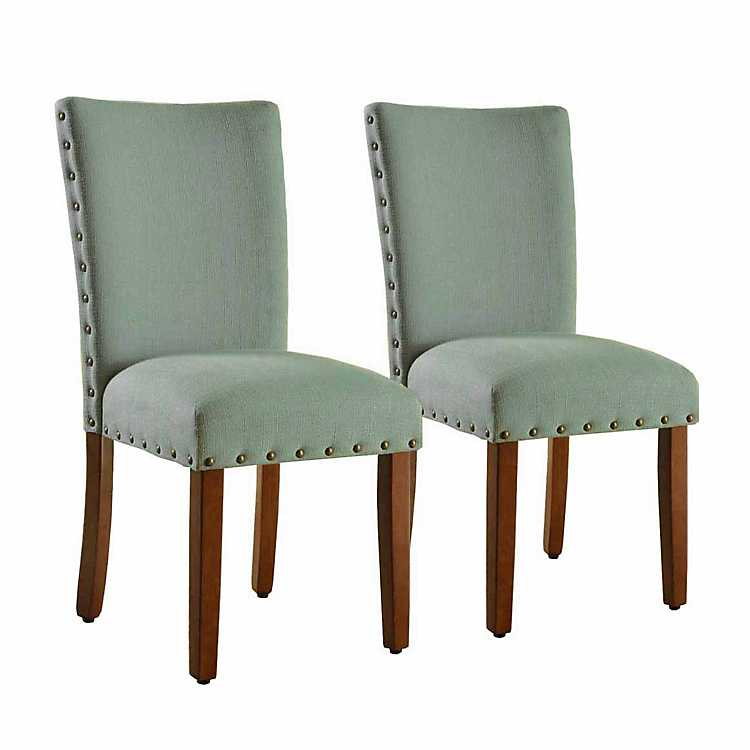 Superbe Seafoam Green Parsons Chairs, ...