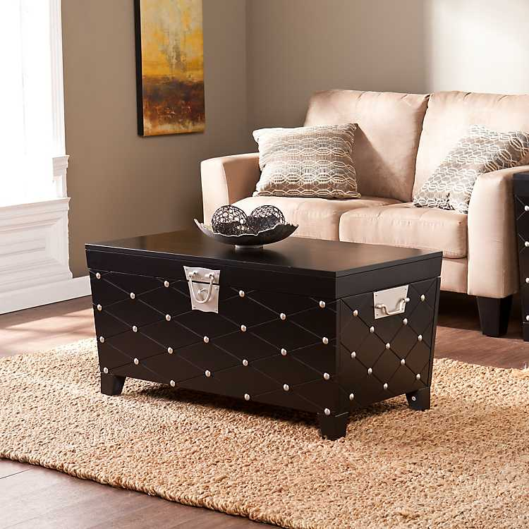 Black Nailhead Truck Coffee Table ...