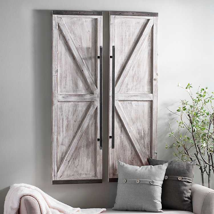 Product Details Wooden Faux Barn Door Plaque