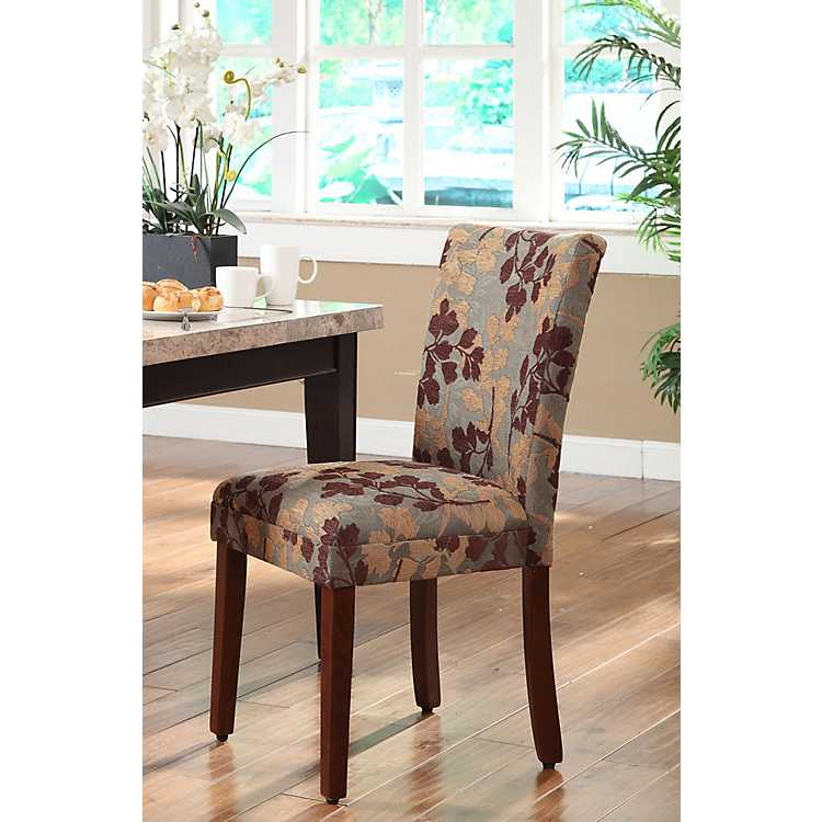 Beau Brown And Tan Sage Leaf Parsons Chair ...