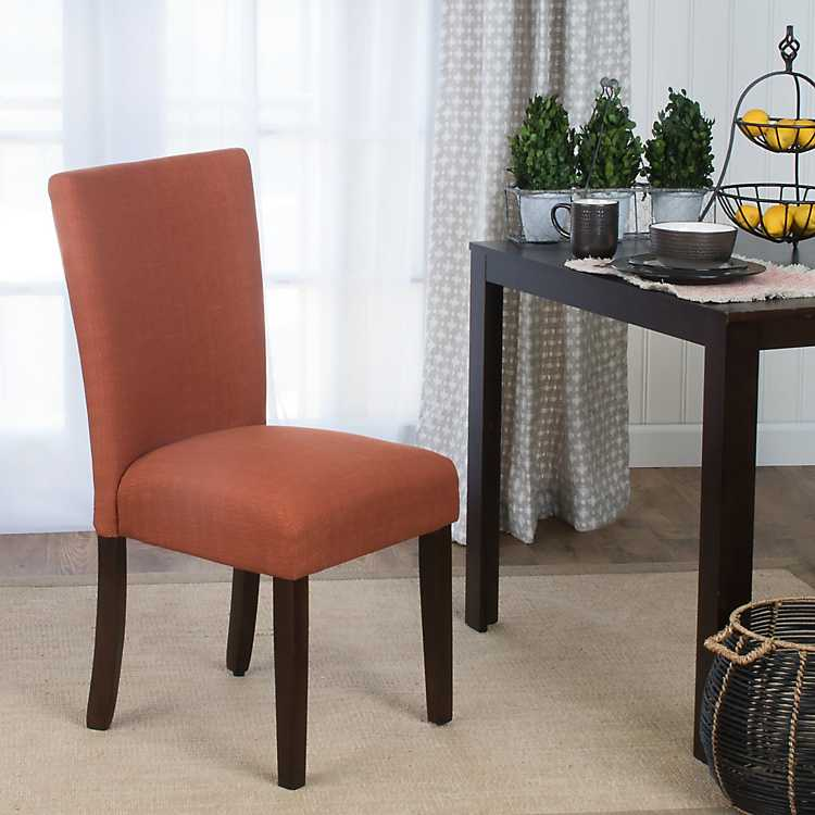 Beau Orange Dining Parsons Chair ...