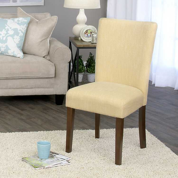 Bon Daisy Yellow Dining Parsons Chair ...