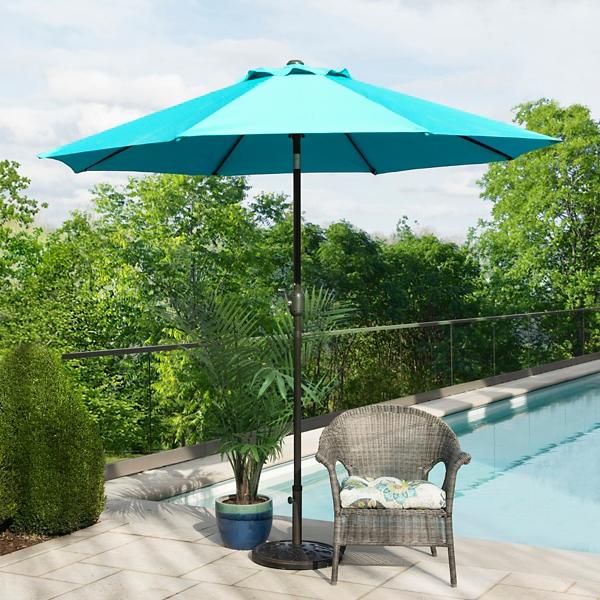 Indigo and Bronze Patio Umbrella