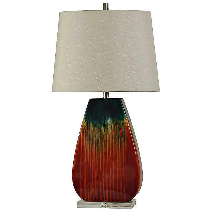 Ceramic Burnt Orange Table Lamp