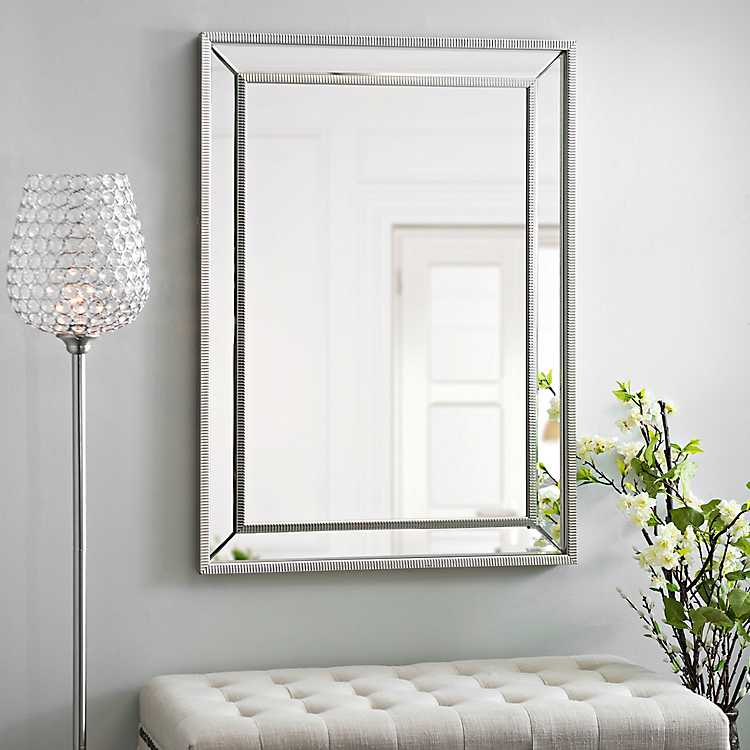 Um Silver Luxe Mirror 31 5x43 5 In