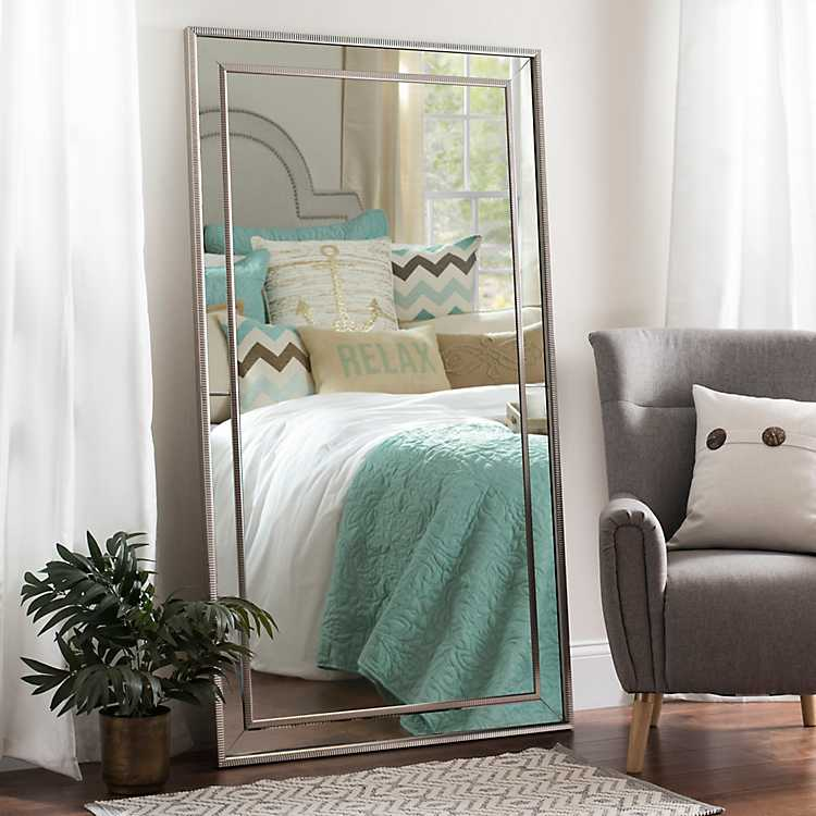 Large Silver Luxe Leaner Mirror 37 2x67 2 In Kirklands