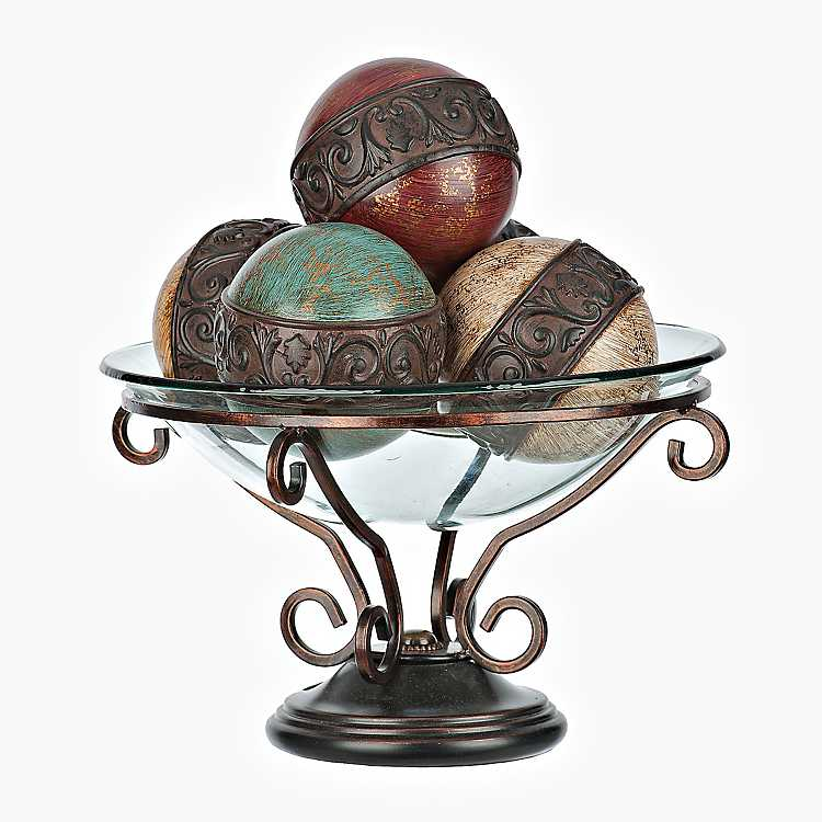 decorative bowls home decor.htm savannah scroll 5 pc orb and bowl set kirklands  savannah scroll 5 pc orb and bowl set