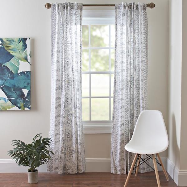 Lola gray paisley curtain panel set 84 in kirklands