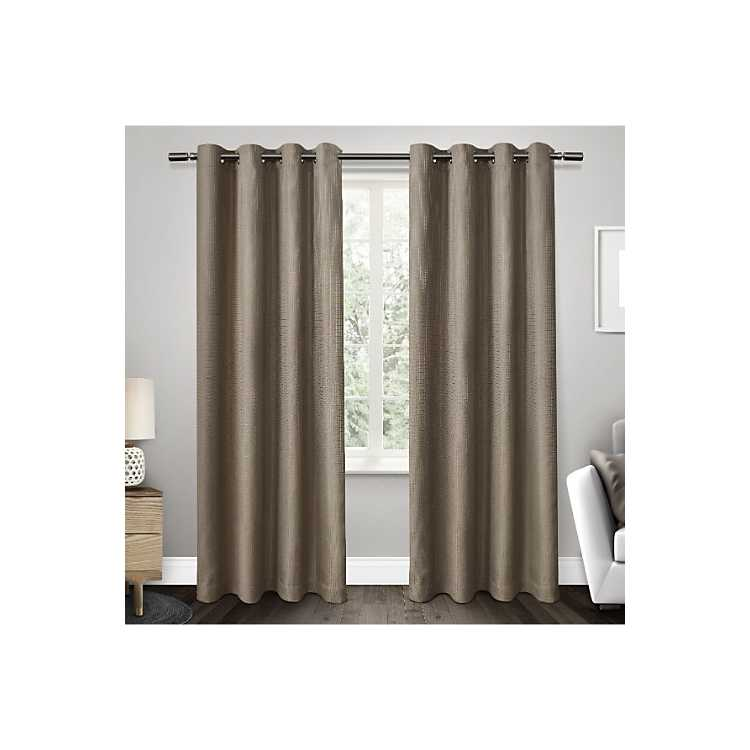 Tan Elington Blackout Curtain Panel Set 96 In