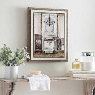 Chrome grand vanity framed art print