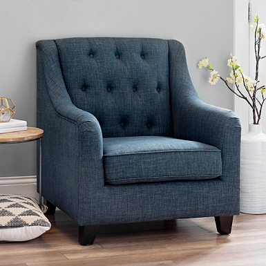 Chair Living Room. Navy Jayla Accent Chair Chairs  Arm Kirklands