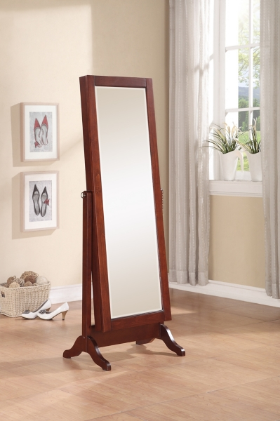 Cherry Sliding Jewelry Armoire Mirror Kirklands